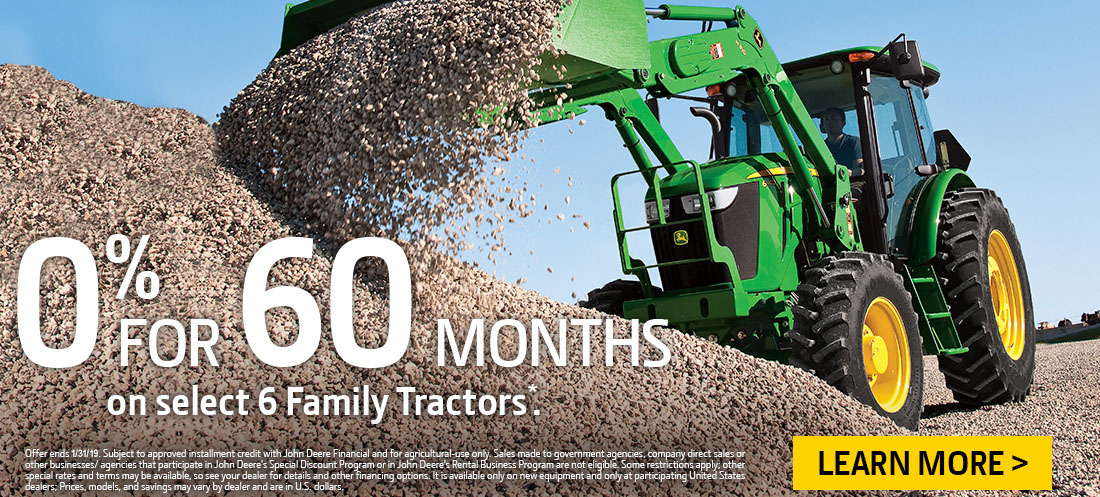 John Dere 6 Family Tractor Financing