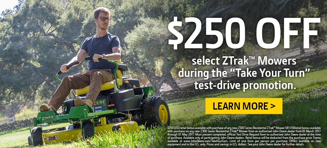 ZTrak Mowers Test Drive Promotion